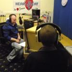 Chris chats with Bernard